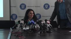 Conferință de presă susținută de Ministrul Sănătății, Sorina Pintea, privind prezentarea bilanțului activității pe șase luni