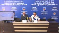 """Conferință de presă organizată de Procuratura pentru Combaterea Criminalității Organizate și Cauze Speciale cu tematica """"Deconspirarea activității criminale a unui grup criminal organizat, specializat în tîlhării și jafuri pe întreg teritoriul Republicii Moldova"""""""