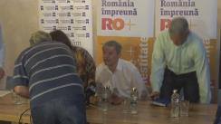 Conferință de presă organizată de Mișcarea România Împreună (RO+)