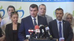 Conferință de presă susținută de președintele Partidului Mișcarea Populară, Eugen Tomac, pe tema protestelor din Piața Victoriei