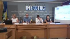 """Conferință de presă organizată de Fundația Soros-Moldova cu tema """"Lansarea Programului de granturi dedicat organizațiilor societății civile de nivel local pentru dezvoltarea serviciilor sociale comunitare"""""""