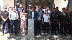 """Conferința de presă organizată de Mișcarea de Rezistență ACUM la sediul televiziunii publice Compania """"Teleradio-Moldova"""""""