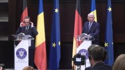 Conferință de presă susținută de Ministrul Afacerilor Externe al României, Teodor Meleșcanu, și Ministrul Federal al Afacerilor Externe al Germaniei, Heiko Maas