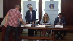 Conferința de presă susținută de reprezentanți ai Academiei Române și ai Administrației Prezidențiale pe tema Centenarului