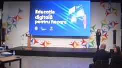 Eveniment public de lansare a educației digitale în instituțiile din învățământul general