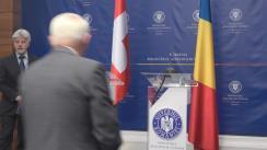 Conferință de presă susținută de Ministrul Afacerilor Externe al României, Teodor Meleșcanu, și șeful Departamentului Federal pentru Afaceri Externe al Confederației Elvețiene, consilierul federal Ignazio Cassis