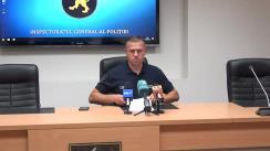 Briefing de presă organizat de Inspectoratul General al Poliției privind operațiunea de eliberare a patru persoane ținute ostatici, într-un apartament din capitală