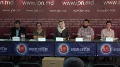 """Conferința de presă organizată de Mișcarea Juriștilor Ortodocși din Moldova cu tema """"Vaccinare vs. școlarizare. Părinții cer alternativa pentru educație"""""""