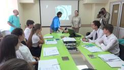 """Conferință pentru copii """"O lecție interesantă pentru elevii liceului Universul organizată la Centrul """"BB-Dializă"""""""
