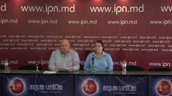 """Conferință de presă susținută de Fiodor Ghelici, președintele Asociației obștești """"Moldova mea"""", cu tema """"Un șofer de microbuz a lovit o mamă cu un copil de o lună și a părăsit locul accidentului. Copilul e în reanimare de aproape doi ani. Poliția a mușamalizat cazul!"""""""