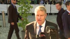 Declarația de presă susținută de Președintele României, Klaus Iohannis, înaintea participării la reuniunea informală a Consiliului European