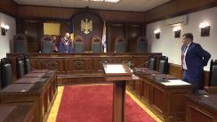 Curtea Constituțională examinează sesizarea nr.131f/2018 privind constatarea circumstanțelor care justifică interimatul funcției de Președinte al Republicii Moldova