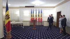 Ceremonia de depunere a jurământului de învestire a noilor miniștri desemnați în Guvernul Filip