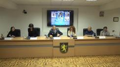 """Conferință de presă organizată de Inspectoratul General al Poliției privind desfășurarea campaniei """"Copil Școlarizat – Copil Protejat"""""""