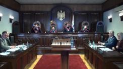 Ședința Curții Constituționale: Cerințele de înregistrare a partidelor politice