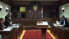 Ședința Curții Constituționale de examinare a sesizării nr.41b/2018 privind interpretarea unor articole din Constituția Republicii Moldova (referendumul legislativ inițiat de cetățeni)
