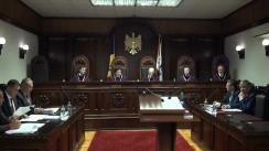 Ședința Curții Constituționale de examinare a sesizării nr.28a/2108 privind controlul constituționalității articolului 4 alin. (1) lit. h/1) din Legea nr. 131 din 3 iulie 2015 privind achizițiile publice