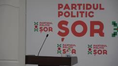 """Briefing susținut de Președintele Partidului """"ȘOR"""", Ilan Șor"""