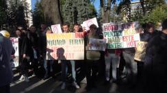 Protestul Tineretului Democrat fata de finanțarea PAS și DA de către oligarhi străini certați cu legea