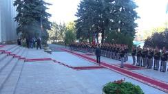 Întâmpinarea premierului Ucrainei, Volodymyr Groysman, de către prim-ministrul Republicii Moldova, Pavel Filip