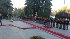 Întâmpinarea prim-ministrul Georgiei, Mamuka Bakhtadze, de către prim-ministrul Republicii Moldova, Pavel Filip