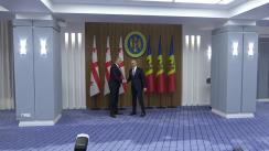 Ședința în plen a delegațiilor Republicii Moldova și Georgiei