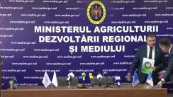 """Conferință de presă organizată de Ministerul Agriculturii, Dezvoltării Regionale și Mediului despre noile domenii eligibile pentru finanțare în cadrul proiectului de Restructurare a Sectorului Horticol """"Livada Moldovei"""""""