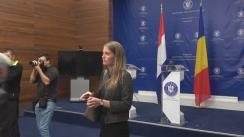 Declarații de presă susținute de Ministrul Afacerilor Externe al României, Teodor Meleșcanu, și Ministrul Afacerilor Externe al Olandei, Stef Blok