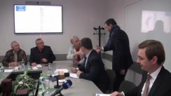 """Ședința Clubului de presă """"Economy Talks"""" având ca temă domeniul infrastructurii drumurilor"""