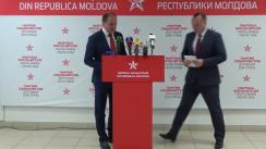 """Briefing susținut de secretarul executiv al PSRM, Vlad Batrîncea, și secretarul executiv pentru ideologie al PSRM, Ion Ceban, cu tema """"Situația politică din țară și agenda PSRM"""""""
