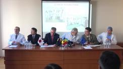 Conferința de presă dedicată realizării în premieră în Republica Moldova a intervenției neuroendovasculare de extracție a trombilor din vasele creierului în accidentele vasculare cerebrale acute