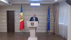 Declarațiile lui Mihai Ghimpu după părăsirea ședinței Parlamentului Republicii Moldova din 18 octombrie 2018