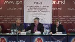 """Conferința de presă organizată de Universitatea Tehnică a Moldovei cu tema """"Internaționalizarea învățământului superior: Mobilitatea studenților la universitățile din UE în cadrul proiectului ERASMUS + PBLMD"""""""