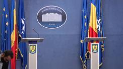 Briefing de presă susținut de Ministrul Afacerilor Interne al României, Carmen Dan, și Comisarul European pentru Uniunea Securității, Julian King