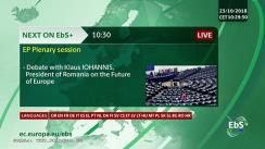 Dezbaterea în plenul Parlamentului European privind viitorul Europei, cu participarea Președintelui României, Klaus Iohannis