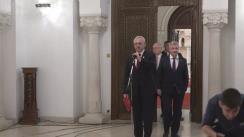 Declarații de presă susținute de reprezentanții PSD, după consultările cu Președintele României, Klaus Iohannis, pe tema legislației din domeniul justiției