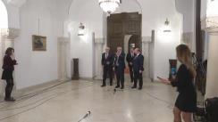 Declarații de presă susținute de reprezentanții ALDE, după consultările cu Președintele României, Klaus Iohannis, pe tema legislației din domeniul justiției