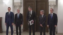 Declarații de presă susținute de reprezentanții USR, după consultările cu Președintele României, Klaus Iohannis, pe tema legislației din domeniul justiției