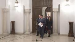 Declarații de presă susținute de reprezentanții PMP, după consultările cu Președintele României, Klaus Iohannis, pe tema legislației din domeniul justiției