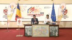 Conferință de presă susținută de primarul Municipiului Iași, Mihai Chirica, și liderul Platformei Unioniste Acțiunea 2012, George Simion