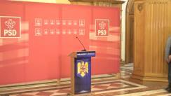 Declarații de presă după ședința CExN al PSD din 5 noiembrie 2018