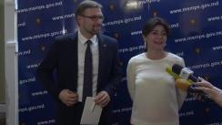 Întrevedere bilaterală a ministrului Sănătății, Muncii și Protecției Sociale, Silvia Radu, cu ministrul Securității Sociale și al Muncii al Republicii Lituania, Linas Kukuraitis