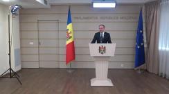 Declarațiile lui Andrian Candu în timpul ședinței Parlamentului Republicii Moldova din 8 noiembrie 2018