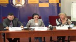 Secretarii de Stat Lidia Barac și Alina Bica, precum și șeful BRCCORC din Statele Membre UE, Cornel Călinescu - Declarații de presă privind studiile de impact și activitatea de cooperare cu oficiile de recuperare a creanțelor