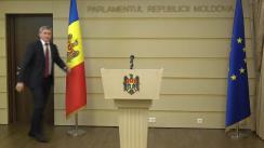"""Briefing susținut de Președintele Comisiei de anchetă, Igor Vremea, după ședința comisiei de anchetă pentru elucidarea circumstanțelor de fapt și de drept ale acuzațiilor de imixtiune din partea Fundației """"Otwarty Dialog"""" (Dialog Deschis)"""