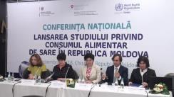 Lansarea rezultatelor studiilor privind consumul de sare și acizilor grași trans industriali în Republica Moldova