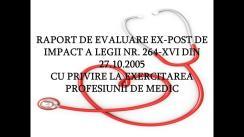 Prezentarea Raportului de evaluare ex-post de impact a Legii cu privire la exercitarea profesiunii de medic