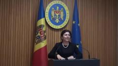 Declarațiile Silviei Radu după ședința Guvernului Republicii Moldova din 14 noiembrie 2018