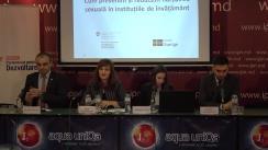 """Conferință de presă organizată de Centrul Parteneriat pentru Dezvoltare împreună Consiliul Național al Tineretului din Moldova cu tema """"Cum prevenim și reducem hărțuirea sexuală în instituțiile de învățământ"""""""
