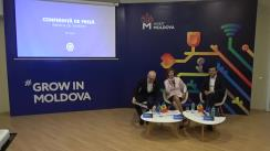 """Conferință de presă cu ocazia lansării brandului de țară pentru atragerea investițiilor cu sloganul """"Grow in Moldova"""" (Crește în Moldova)"""